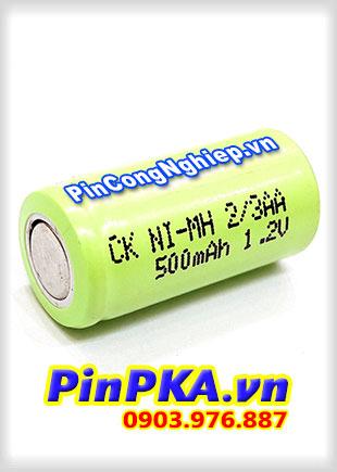 Pin Sạc Công Nghiệp-Pin Cell 1,2v CK Ni-MH 2/3AA 500mAh